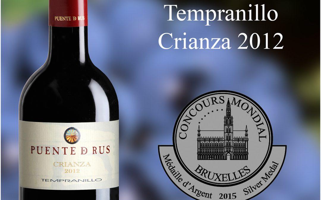 MEDALLA DE PLATA PARA EL «TEMPRANILLO CRIANZA 2012» EN EL «CONCOURS MONDIAL DE BRUXELLES»